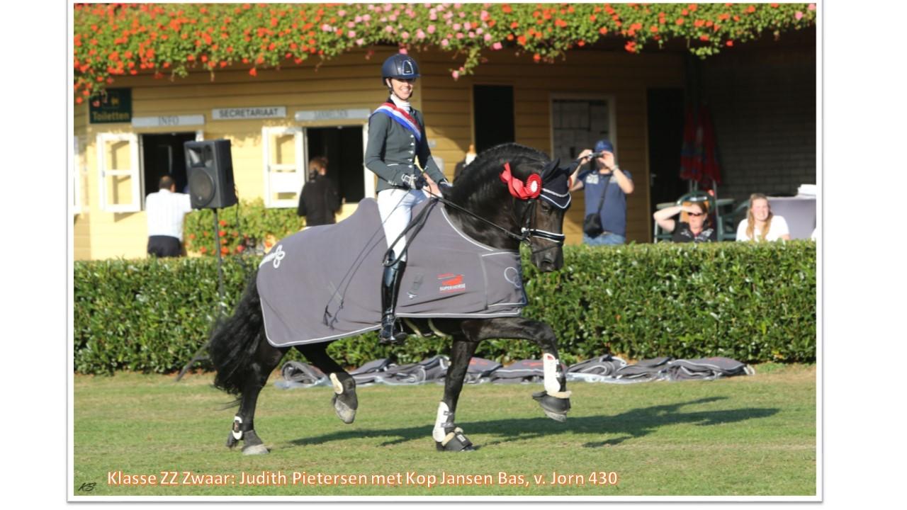 Klasse ZZ-zwaar_ Judith Pietersen met Kop Jansen Bas, v. Jorn 430